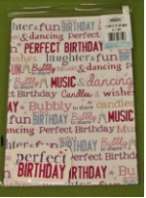 Perfect birthday gift wrap & tags (Code 3602)